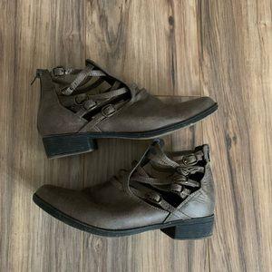 Dark Brown buckle booties